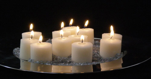 24 Ivory Votive Candles 10 Hour  Unscented