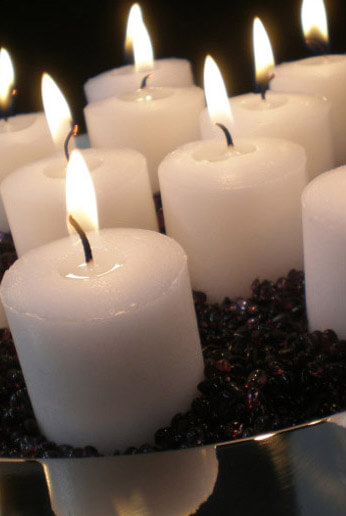 24 White Votive Candles 10 Hour Unscented