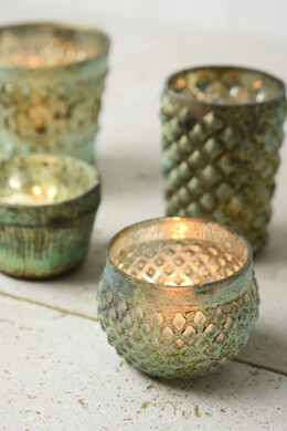 Green Patina Antoinette Tea Light Candle Holder