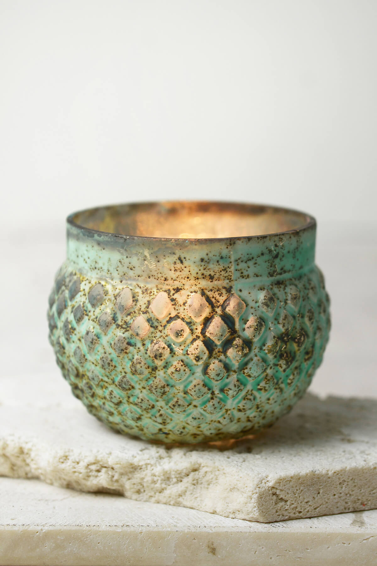 Green Patina Antoinette Tea Light Candle Holder