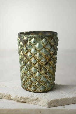 Aqua Patina Cristina Votive Candle Holders