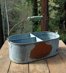 Weathered Metal Zinc Planter