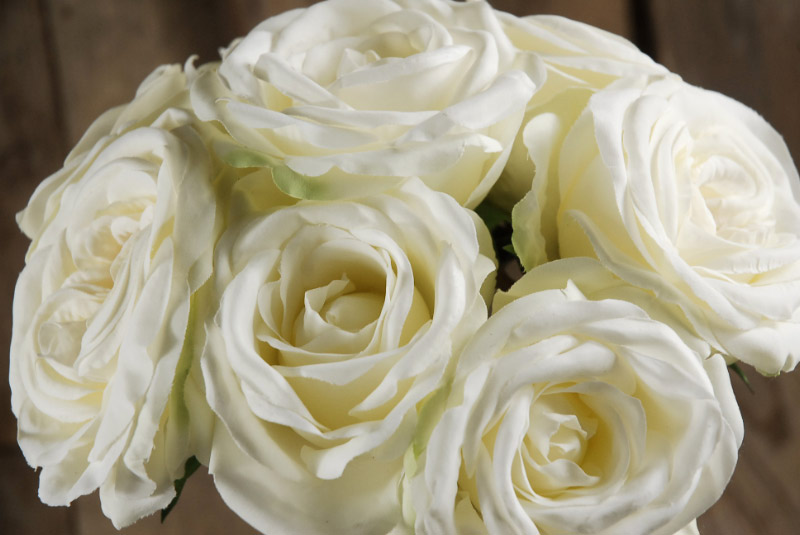 Hand wrapped white rose wedding bouquet mightylinksfo