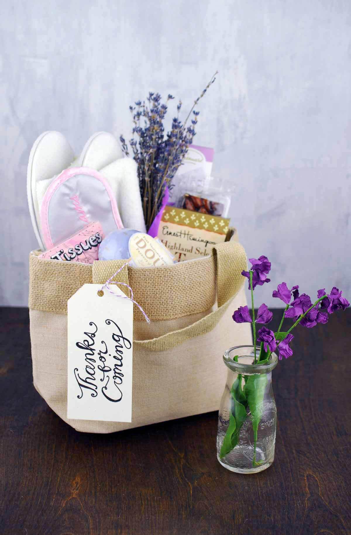 Natural Burlap Bag With Handles 8 Quot Wedding Welcome Bag