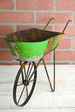 Recycled Metal 19in Wheelbarrow