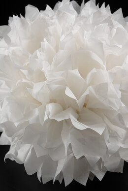 4 Large White Tissue Paper Pom Poms 20in|Pack of 4