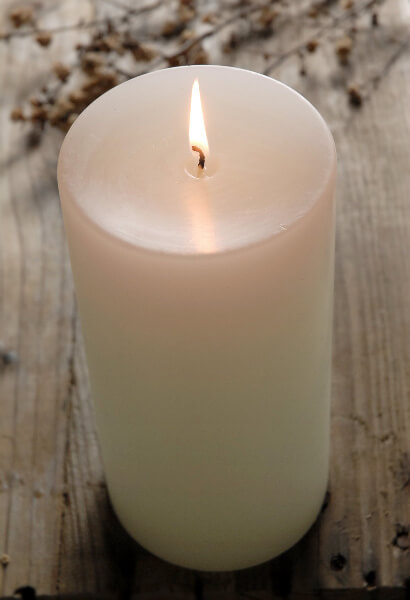 4x8 Pillar Candles White Unscented