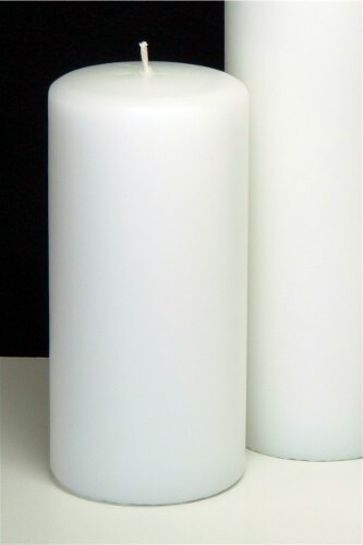White Pillar Candles 6 in. (Pack of 12)