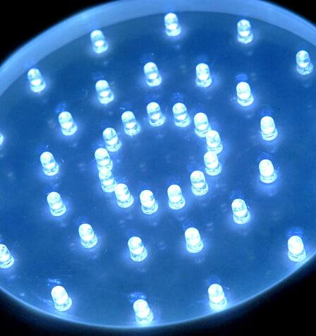 "10"" Super Bright White Light Base, Round 40 LED Battery Operated"