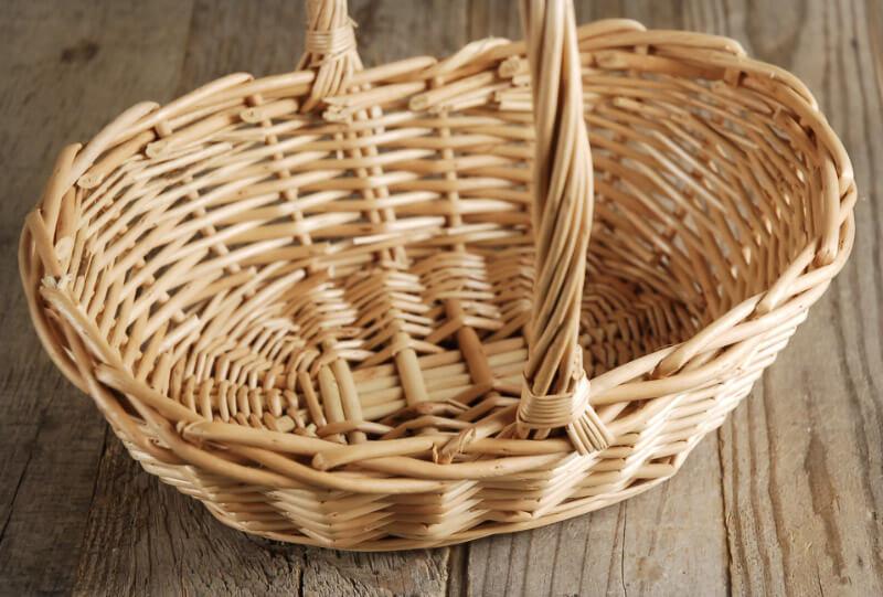 Flower Girl Wicker Basket 10 Inch