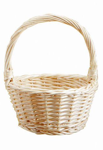 Wicker Flower Girl Basket