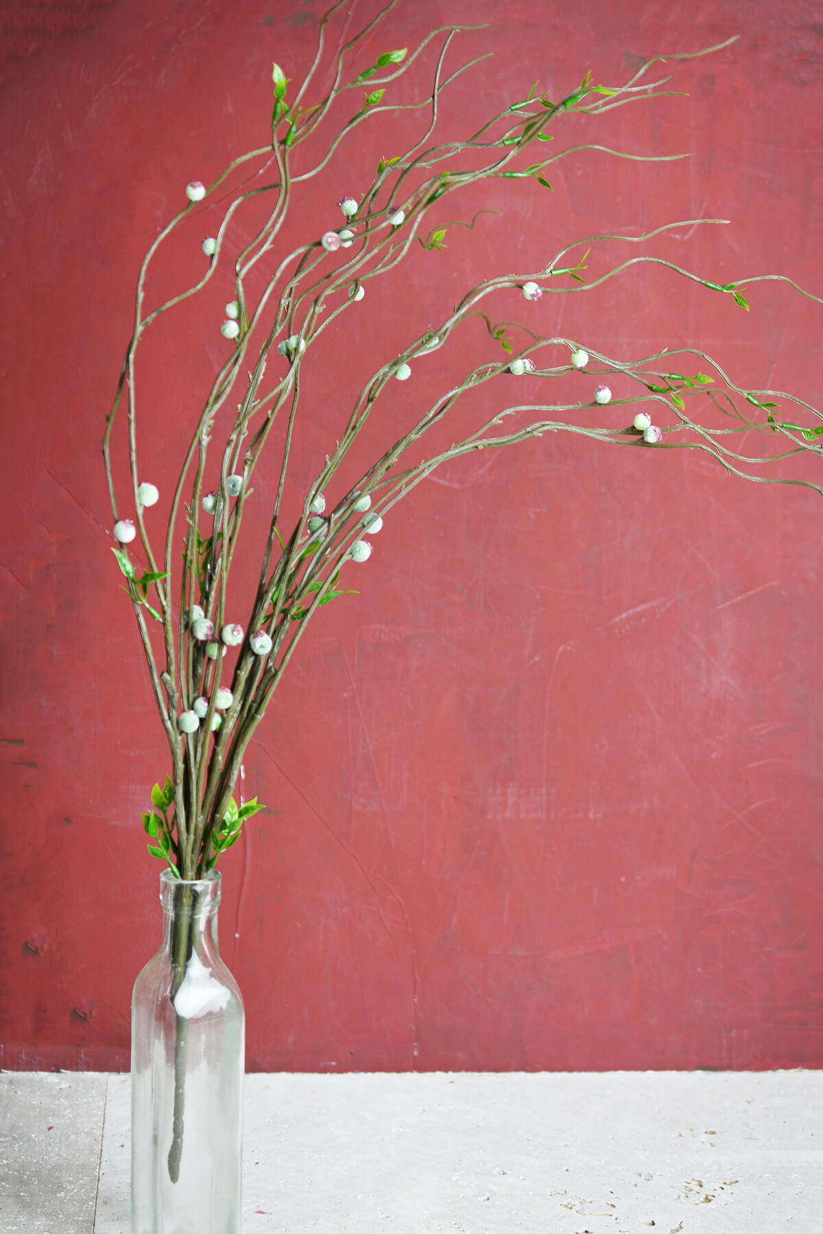 Artificial Curly Willow Branch With Leaves
