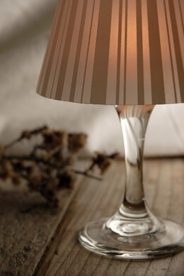 4 Wine Glass Lampshades - Striped