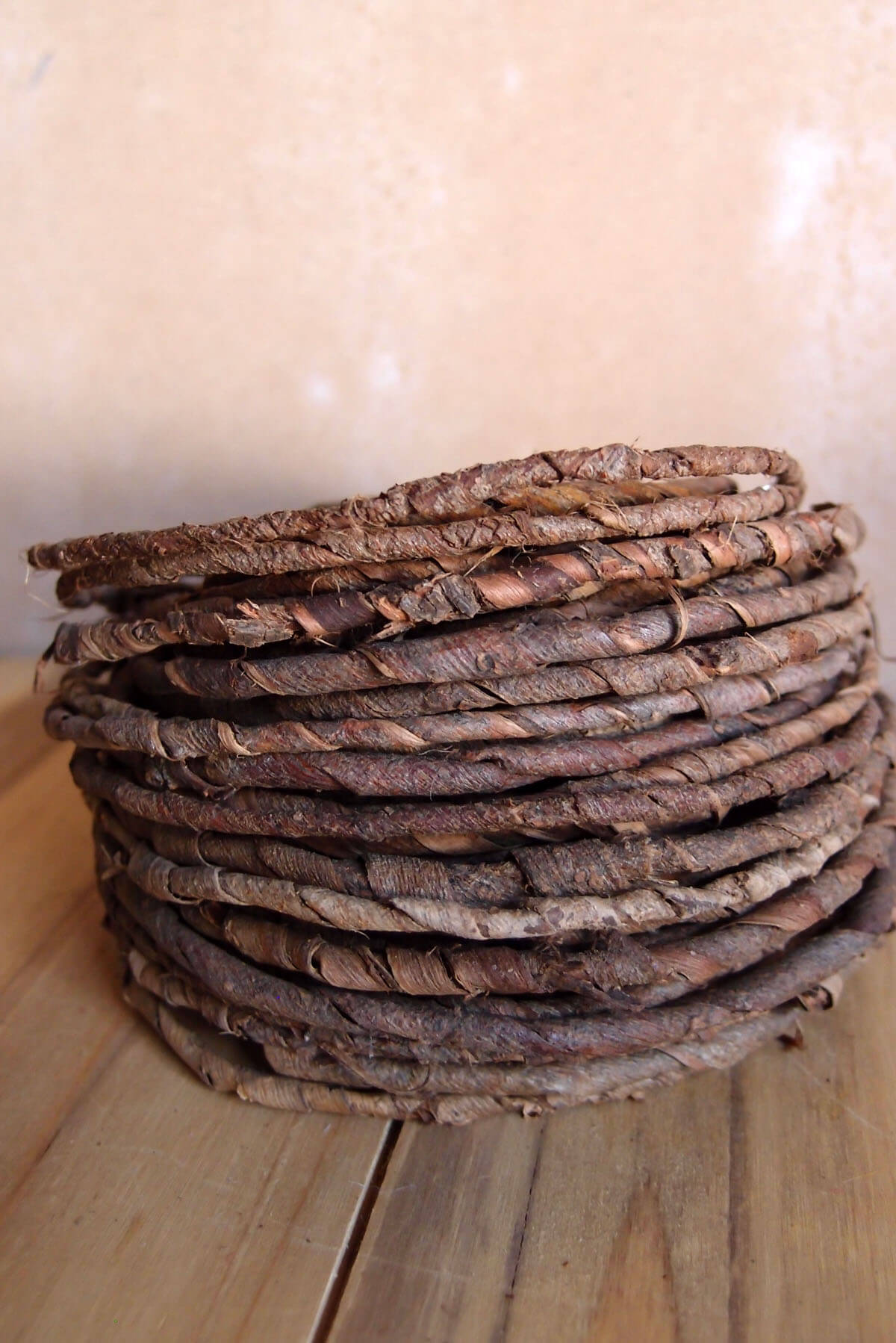 Rustic Bark Covered Wire 70 Feet Natural Wedding Decorations