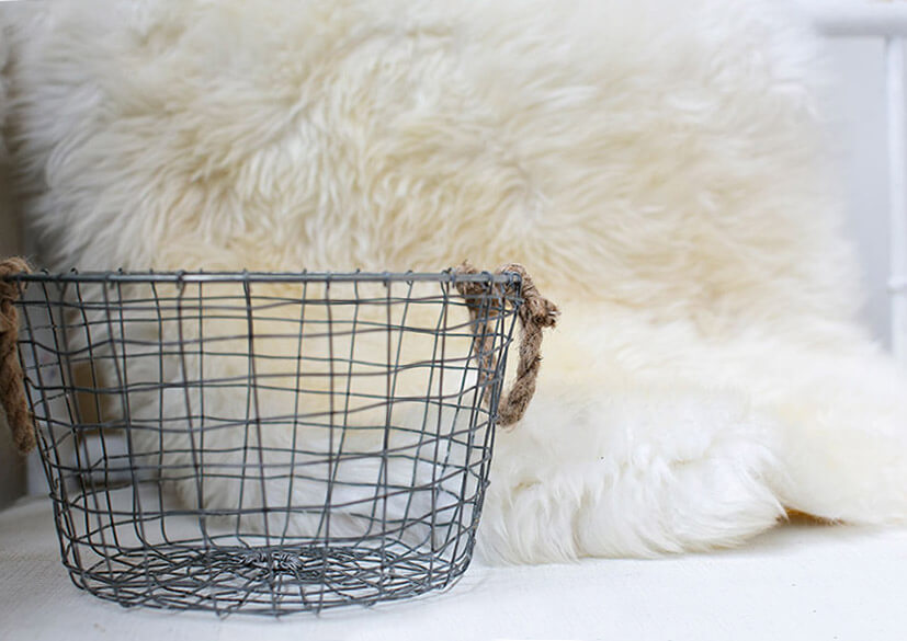 Wire Basket with Rope Handles 10\