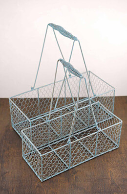 Wire Basket Slate Blue (Set of 2)