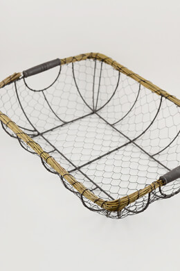 Wire & Wicker 20 Inch Basket