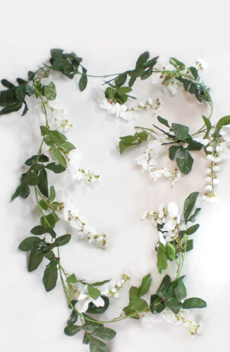 Garlands flower grapevine beeded etc saveoncrafts silk wisteria garland cream white 6ft mightylinksfo