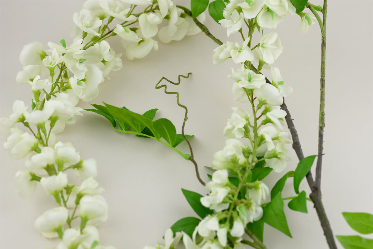 White Wisteria Flowering Branch 69 Quot