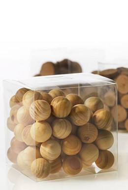 75 Tiny Wood Spheres 3/4 Inch