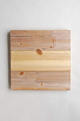 "Wood Plank Board 11-3/4"" Square"