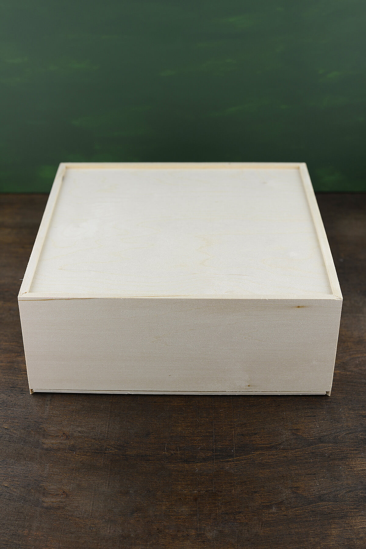 Wood Box With Sliding Lid 11 5in