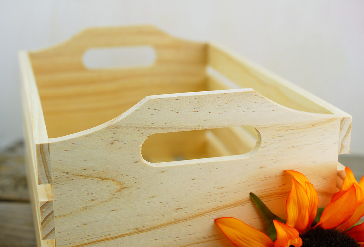 Wooden Crate With Handles Crates With Handles Set Of 3