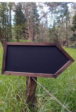Handmade Wood Framed Chalkboard Arrow