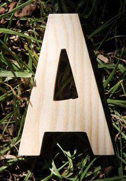 Wood Letter A - Pine 4in