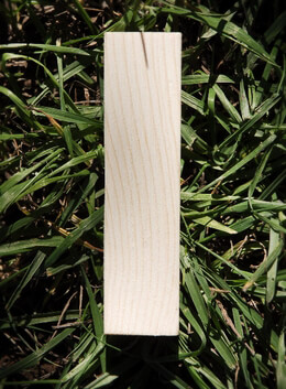Wood Letter I - Pine 4in