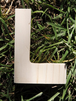 Wood Letter L - 4 in Pine