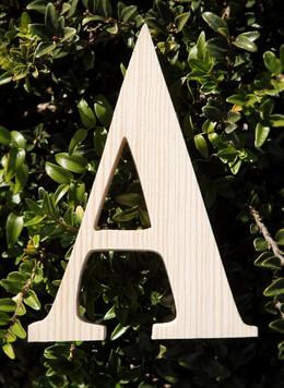 "Wood Letters Greek Alpha 3/4"" thick 6"" tall"