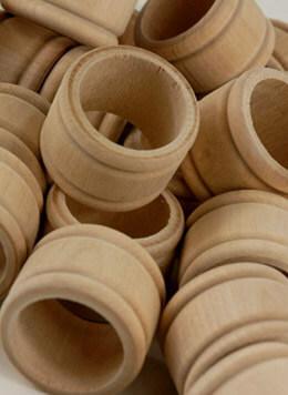 Wood Napkin Rings - Pack of 25