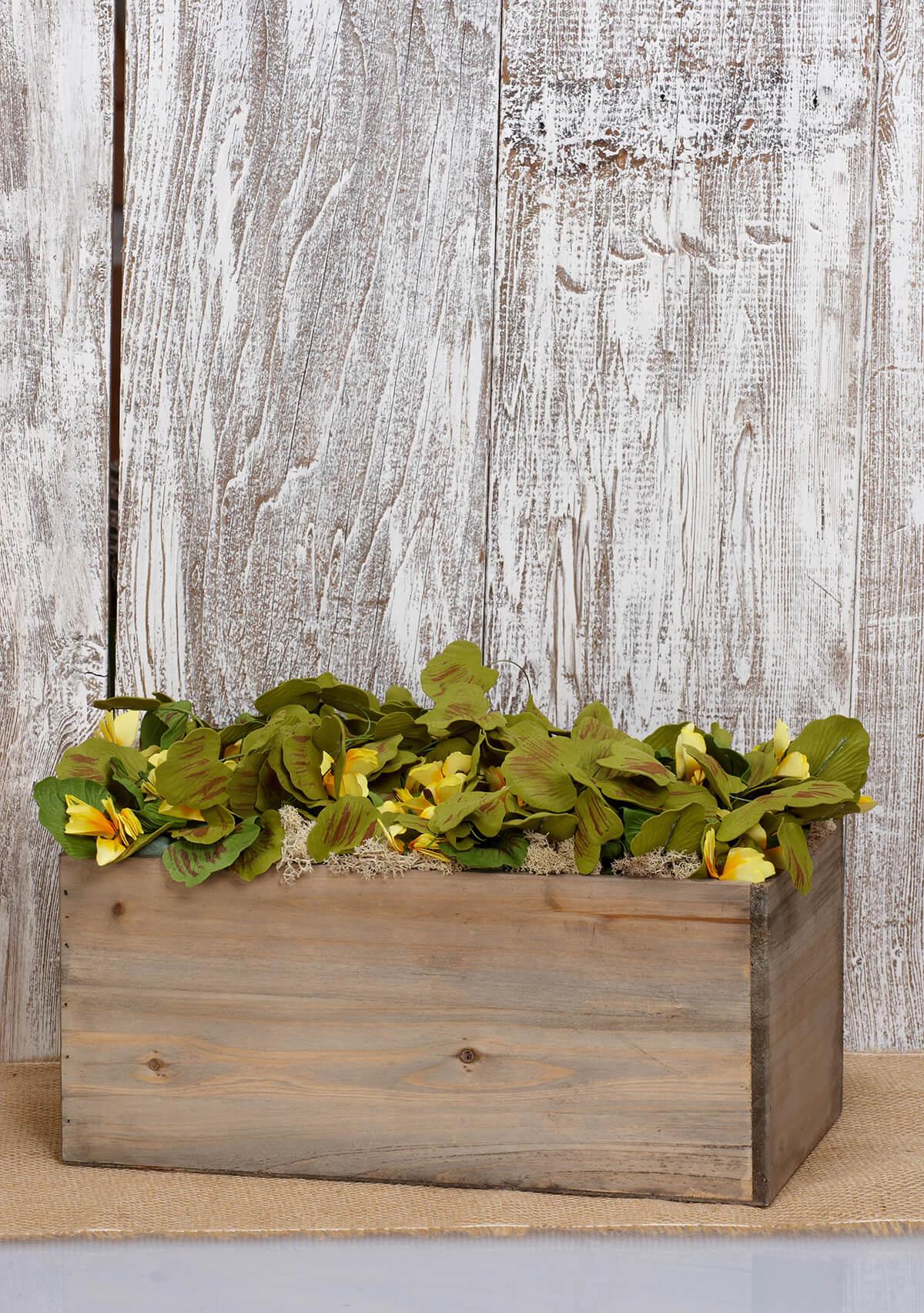 "Planter Box Wood 6x7x13.5"""