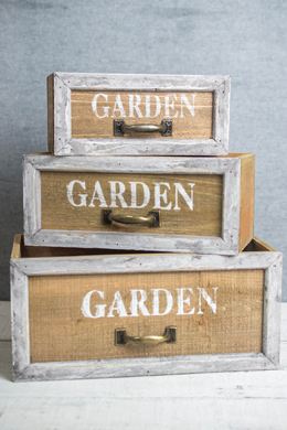 Garden Planter Box Drawers Set of 3