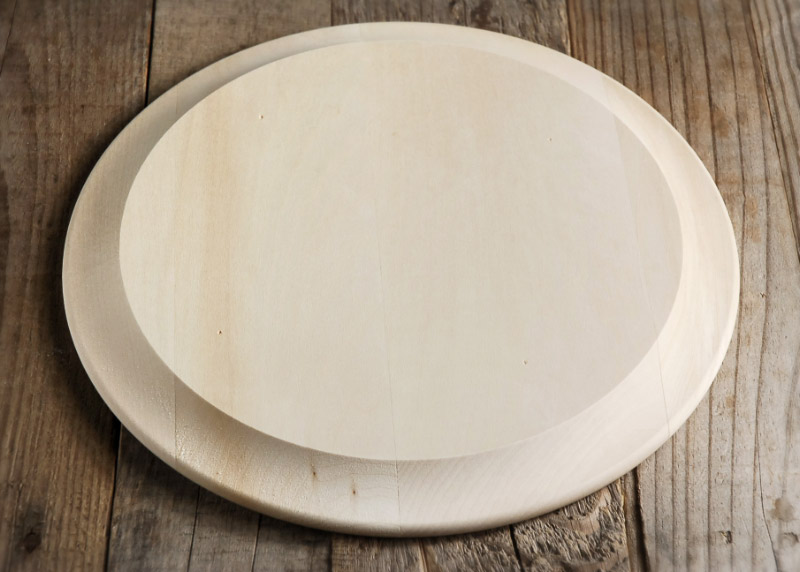 Round Wood Charger Plate 11.5in