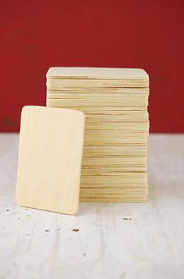 36 Small Wood Rectangle Cutouts 3 x 2