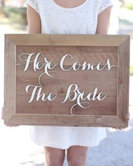 "Here Comes The Bride 20"""