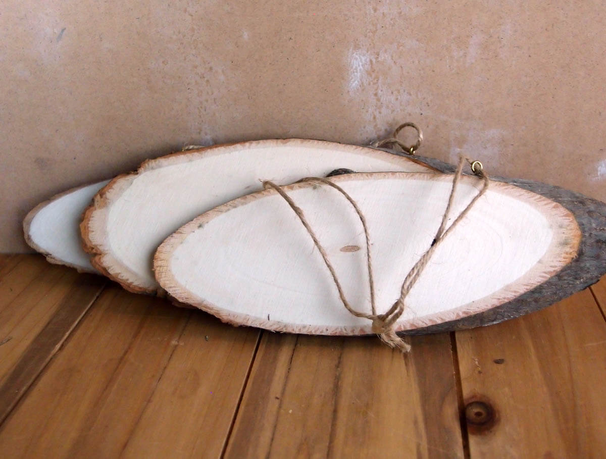 Natural Wood Rustic Oval Plaque With Bark Hanging 9 Quot Sign