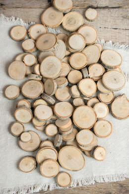 Tiny Wood Round Slices 1 lb