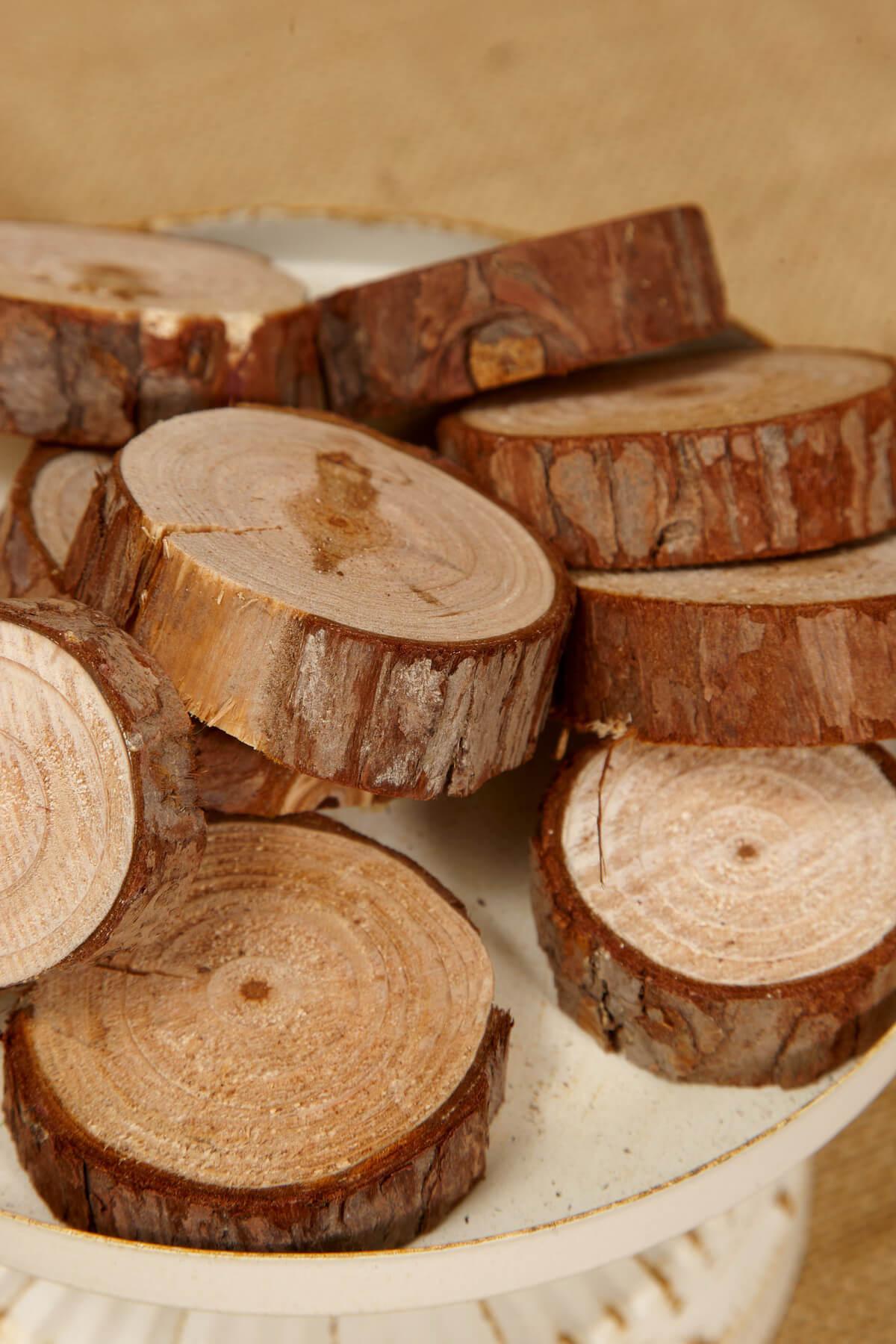 Wood Round Slice 1 25 Quot 2 25 Quot X 5 Quot Thick 10 12 Pcs