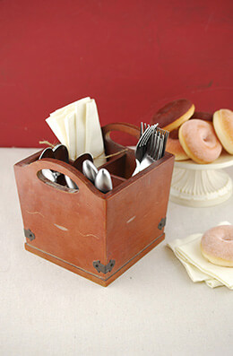 Farmhouse Utensil Holder 7in