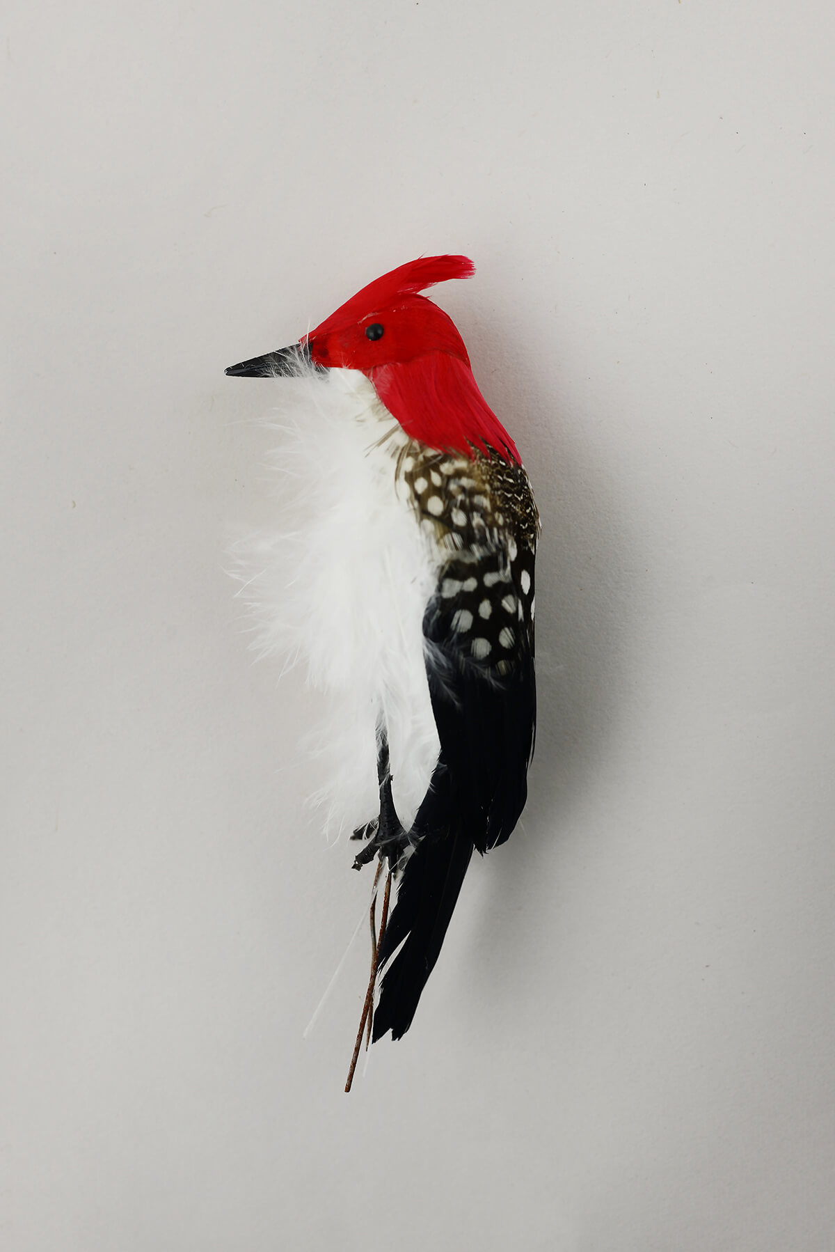 12 black and red woodpeckers birds for Fake birds for crafts