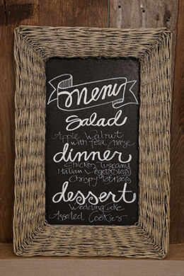 Willow Framed Chalkboard  24.5in