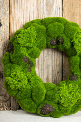 Seaside Faux Moss Wreath 12""