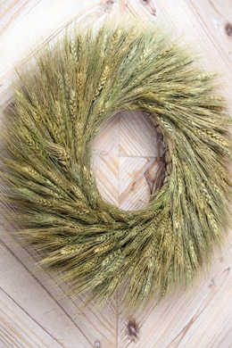 Wheat Wreath 17.5 in Preserved