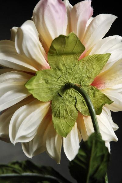 Flower Wreath Centerpiece : Yellow pink silk dahlia flower spray