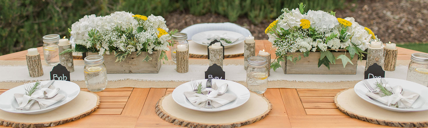 Burlap Wedding Decorations - Rustic Wedding