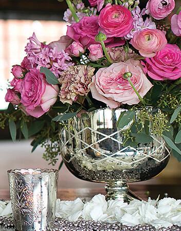 Mercury Glass Vases, Candle Holders