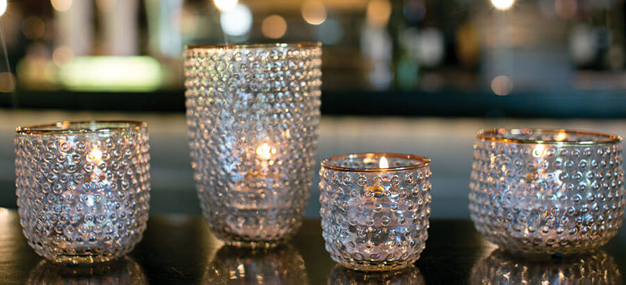 Vintage Style Bottles, Vases, and Candleholders